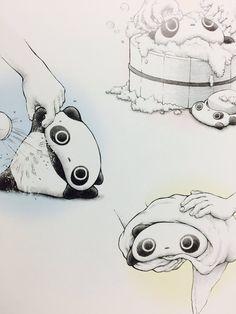 Care and maintenance of Tarepanda. Panda Funny, Cartoon Panda, Panda Love, Cute Panda, Kawaii Art, Kawaii Anime, Panda Drawing, Instagram Emoji, Japanese Stationery