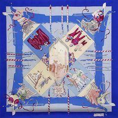 luxury-scarves.com 'Le Carneval de Venise', Hubert de Watrigant. 1993/94