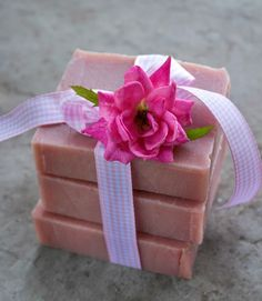 Recipe for natural rose scented soap using natural colour, rose petals, essential oils, and rose-hip seed oil. Shared by Jan Berry, from the Nerdy Farm Wife