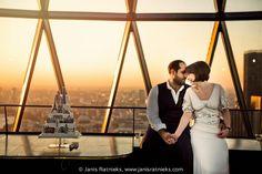 LONDON WEDDING - MARIE AND JAMES AT THE GHERKIN, LONDON | London wedding photographer I Janis Ratnieks