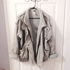 """Free People Moto Jacket Exclusive Color! Not sold anywhere anymore. I believe Free People only made a couple in this color compared to the """"washed black."""" Gently used but still in excellent condition. A comfy and heavy weight jacket that's perfect for the winter <3 The belt part at the bottom is missing, price already reflects this. Shipping is every Monday & Thursday. Free People Jackets & Coats"""