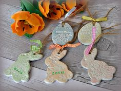 Lovely liberty easter egg craft project full tutorial on our blog easter decoration clay gift tags personalised by frivolouscrafts negle Gallery