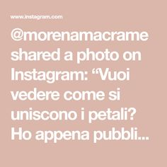 "@morenamacrame shared a photo on Instagram: ""Vuoi vedere come si uniscono i petali? Ho appena pubblicato un mini tutorial nelle storie🌸 Dai uno sguardo! #macrametutorial #macrameflower…"" • Feb 8, 2021 at 2:41pm UTC"
