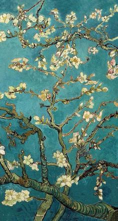 'Blossoming Almond Tree, famous post impressionism fine art oil painting by Vincent van Gogh. ' iPhone Case by naturematters – 'Blossoming Almond Tree, famous post impressionism fine art oil painting by Vincent van Gogh. ' iPhone Case by naturematters - B Vincent Van Gogh, Van Gogh Wallpaper, Painting Wallpaper, Painting Art, Wallpaper Ideas, Artistic Wallpaper, Painting Styles, Tree Wallpaper, Paintings Famous