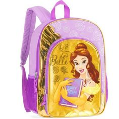 Disney Princess Belle 16 inch Full-Size Backpack, Purple