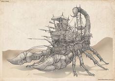 Bug Rider Scorpion caravan