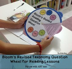 Make sure students are hitting those higher order level thinking skills in reading lessons with this question wheel. For use with any text.