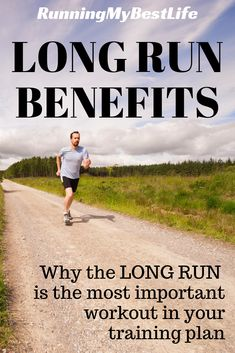 The long run is the most important workout in our training plan each week. If we do it right, we can harness the incredible benefits that the long run gives us. By running long one time each week, runners will improve their fitness, get faster, and learn to go the distance for their half marathon and full marathon. #longrun #running #halfmarathontraining