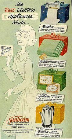 Vintage Sunbeam Christmas Advertisement.