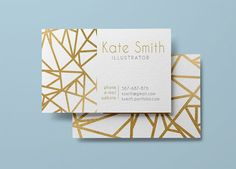 Gold business card template and letterhead by designedbyanna