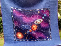 Eric's Quilt ~XandraDesigns~ planet panel quilt back