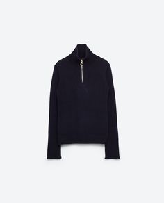 Image 8 of RAISED COLLAR SWEATER WITH ZIP from Zara