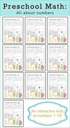 Preschool Math - All About Numbers! This is an awesome printable packet that will reward and challenge your preschooler.