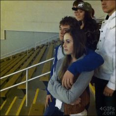 The Proper Way To Use A Handrail - hahahaha (gif)