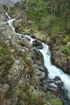 Ogwen Falls | Llyn Ogwen - waterfall - Wales by wandereringsoul