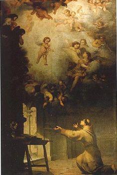 Vision of St. Anthony of Padua  - Bartolome Esteban Murillo