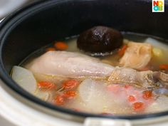 Check out my simple recipe for chicken & daikon soup, cooked entirely and effortlessly in a rice cooker. It's a very nourishing and qi balancing soup.