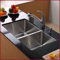 Nice deep kitchen sink.
