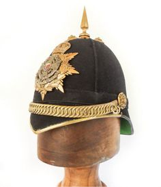 Original 1878 Border Regiment Officer's Blue Cloth Helmet, Casque, China Wars   eBay