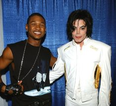 MJ and singer Usher during Michael Jackson's Tribute Concerts at Madison Square Garden New York City September 7 2001