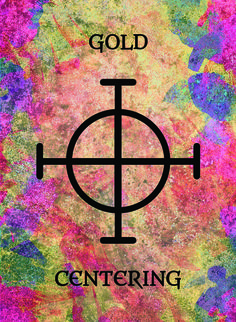The Gold (Centering) image for the Transcendence Oracle™ card deck by Aethyrius.