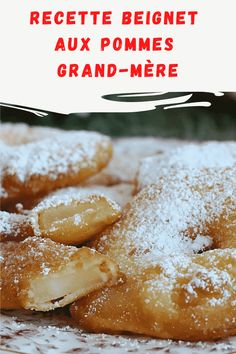 Recette beignet aux pommes grand-mère Beignets, Food Truck, Biscuits, French Toast, Breakfast, Simple, Desserts, Recipes, Pancakes