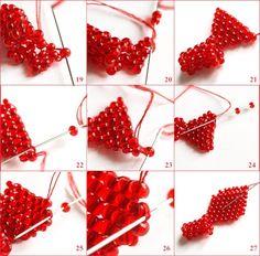 1. Плетем мозаичный жгутик. 2. Выплетаем кирпичным плетениемлепестки. < 3. В конце работы надо еще раз пройтись по крайним бусинкам и присобрать лепесток, чтобы придать объем. < 4. Белые лепестки тоже сделаны кирпичным плетением и присобраны. 5. Сделаем тычинки. 6. Осталось только…