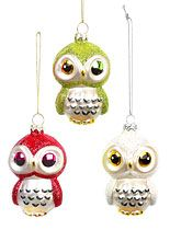 Three Wise Owls Ornament Set at PLASTICLAND