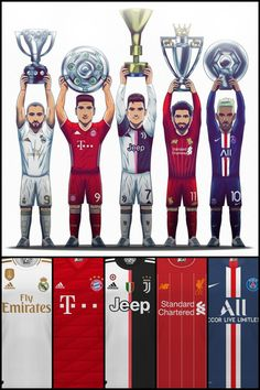 And these are the champions of the top 5 leagues in Europe, now prepared for the remainder of the Champions League