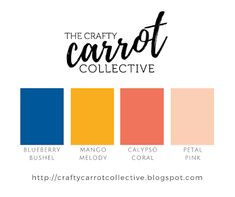 Stampin Up! Colour Combo - Blueberry Bushel, Mango Melody, Calypso Coral, Petal Pink - By Susan Wong for the Crafty Carrot Co.