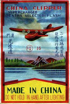 China Clipper Fireworks label