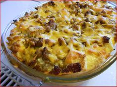 Egg Souffle with Sausage. Great make ahead breakfast casserole for Easter Brunch or breakfast with your family!