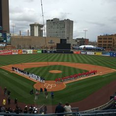 April 7, 2016 - Opening Day at Fifth Third Field, the home of the Toledo Mud Hens of the AAA International League.