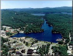 Looking over Old Forge, NY and up the Fulton Chain of Lakes in the Adirondack Mountains