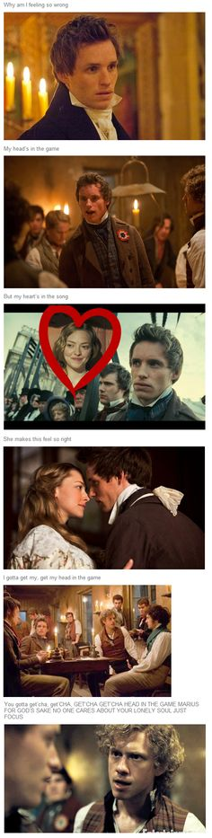 Get your head in the game Marius! AINT NOBODY GOT TIME FOR COSETTE