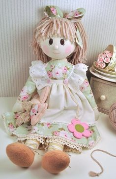 Looking for your next project? You're going to love Holly Rag Doll Pattern - PDF by designer Raggy Dolls.