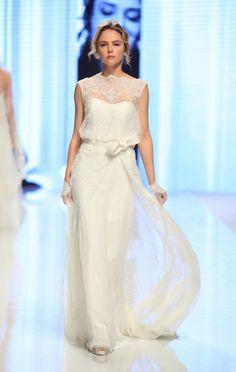Wedding dress con fiocco in vita e sovragonna leggera in pizzo.....NICOLE SPOSE/ selezione WANDESIGN wedding planner