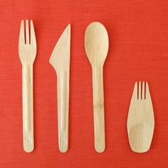 Organic Bamboo Utensils- by Bambu  (committed to health and safety, environmental protection and fair labor practices.) Compostable