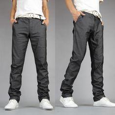 2012 new spring clothing Korean casual male fashion fine check Pant men's casual pants skinny men's trousers men Thumbnail