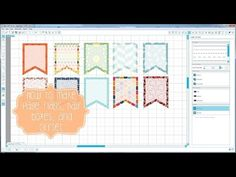 How To: Full page flags, half boxes, and cut/offset settings for Silhouette - YouTube