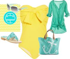 """""""Tiffany Blue and Yellow= Summer!"""" by macynzli on Polyvore"""