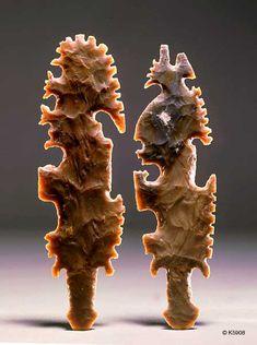 Kerr Portfolio Hi-Resolution Flint Stone, Native American Tools, Stone Creek, Flint Knapping, Historical Artifacts, Native Art, Gems And Minerals, First Nations, Ancient Art