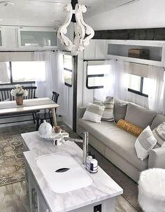 Small Dream Homes, Rv Homes, Rv Interior, Interior Design, Van Living, Camper Makeover, Camper Renovation, Trailer Remodel, Remodeled Campers