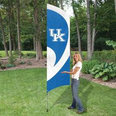 Tall Team Flag with Pole - University of Kentucky Wildcats