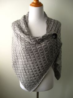 A Foggy Morning - Hand Knit Shawl / Wrap - MADE TO ORDER