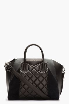 MillionDollarShoppersDanielle GIVENCHY Black Quilted Leather  amp  Suede  Antigona Duffle Bag Beautiful Handbags 69952a8708e33