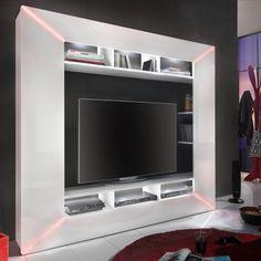 Die Integrierte Beleuchtung Im Frontbereich Bringt Eine Tolle Atmosphäre  Für Spiele  Und DVD Abende. #design #wohnwand #hochglanz #wohnzimmer #modern  # ...