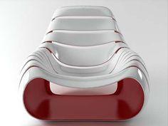 #Snug #Chair by Dennis Abalos #unique #design #designchair #minimalist #wow #red #bordeaux