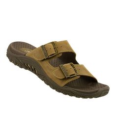 Take a look at this Brown Reggae Jammin Slide by Skechers on #zulily today!