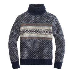 Donegal wool Fair Isle turtleneck sweater : Mens | J.Crew
